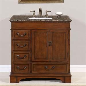 "36"" Perfecta PA-135 Bathroom Vanity Single Sink Cabinet"