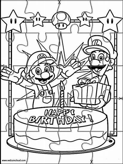 Mario Puzzles Jigsaw Printable Bros Puzzle Drawing