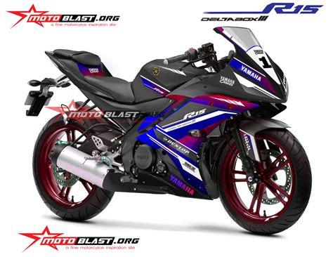 special edition striping yamaha r15 black racing style monyorr tenan motoblast