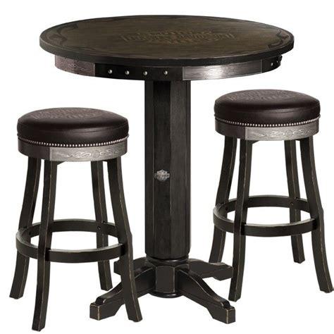 harley davidson pub table and chairs harley davidson bar shield flames pub table stool set