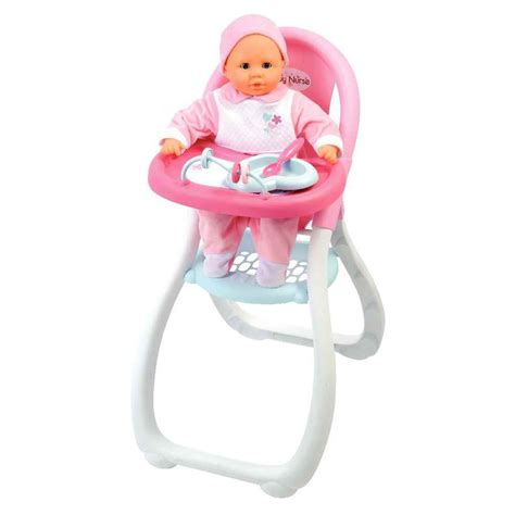 chaise haute poupée chaise haute baby pour poupées smoby accessoires