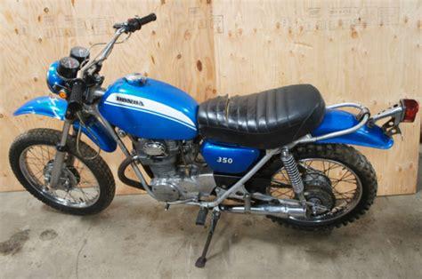 1971 1972 honda sl350 motorcycle sl 350 enduro original