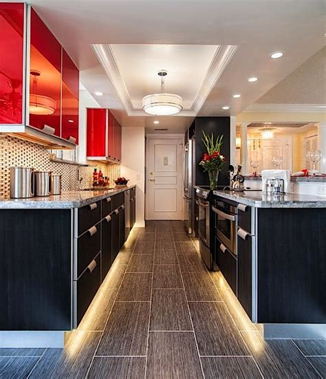 kitchen ambient lighting using led lighting in the kitchen condo ca 2171