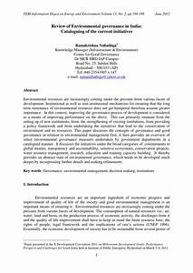 Current Resume Examples Pdf Review Of Environmental Governance In India