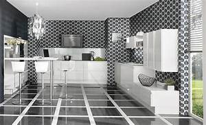 Formidable papier peint pour cuisine blanche 2 cuisine for Papier peint pour cuisine blanche