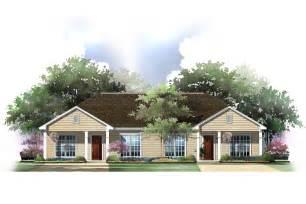 Ranch Duplex House Plans with Garage