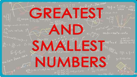 greatest   smallest  digit numbers