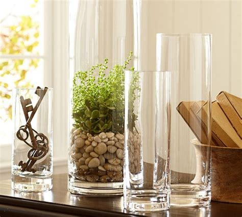 aegean clear glass vases pottery barn   home