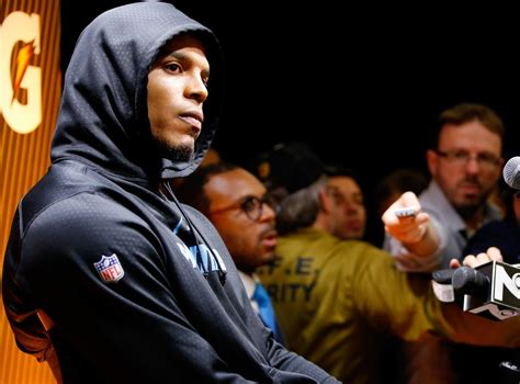 Super Bowl 50 Cam Newton Walks Out Of Post Game Press