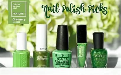 Nail Polish Pantone Greenery Picks Feminine Thefemininefiles