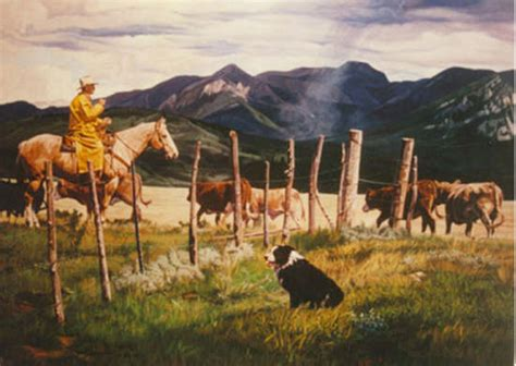 western art depicting ranch  western life