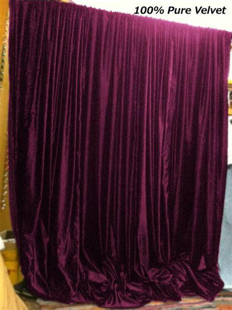 plum color royal pure velvet curtains drapes panel