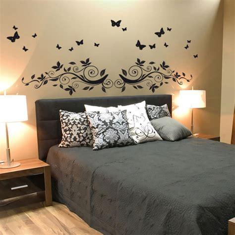 stickers muraux pour chambre adulte stickers tête de lit encadrement de lit stickers pour