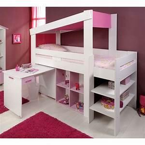 Lit Princesse 90x190 : lit enfant combin lily blanc ~ Teatrodelosmanantiales.com Idées de Décoration