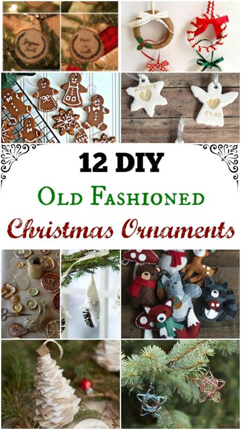 diy  fashioned christmas ornaments simple life mom