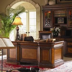 Aspenhome Napa 7 Drawer Executive Desk With Ash Burl
