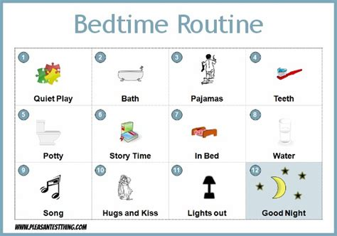 preschool bedtime routine chart bedtime routine chart the pleasantest thing 443