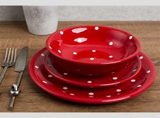 Red Dinner Plate & Cambria Dinner Plate Set Of 4 Red $40