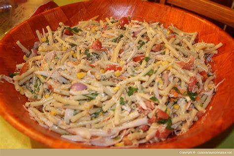 recette salade de p 226 tes 224 la cr 233 ole recette la r 233 union apprenez facilement les recettes de la