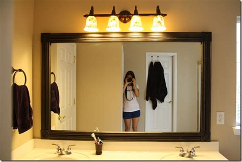 How To Replace A Bathroom Mirror by Crafty Again