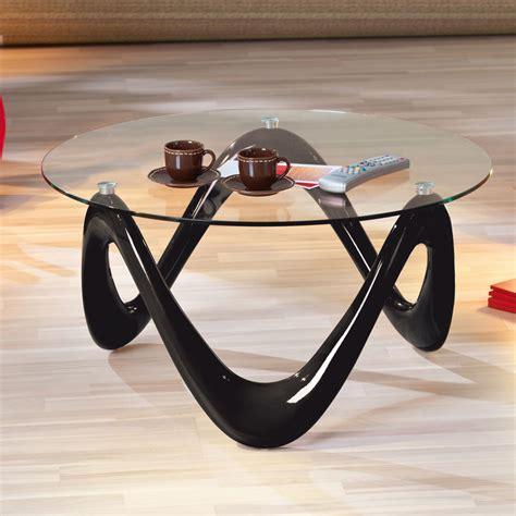 Table Basse Ronde Valentine Noir/Verre 80 cm (20801370) : achat / vente Table basse sur maginea.com