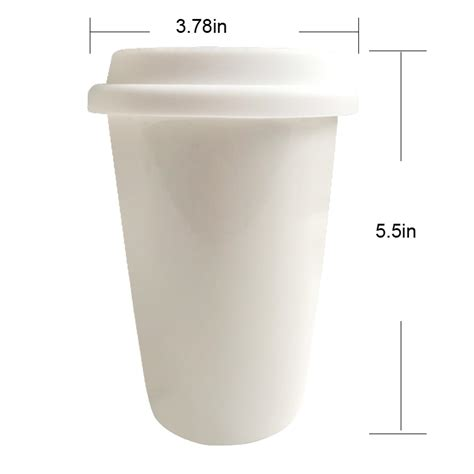 Double wall insulated hot cups use an additional paper layer on the surface of a heavy weight. Reusable Double Wall Insulated White Ceramic Travel Coffee Mug With Lid & Sleeve 14 Oz I Am Not ...