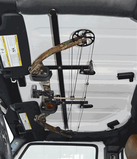 jeep wrangler overhead storage all things jeep quick draw overhead bow rack from great