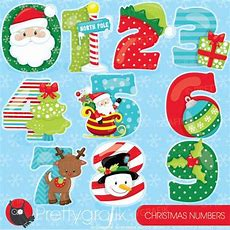 80% Off Sale Christmas Numbers Clipart By Prettygrafikdesign
