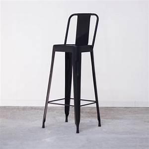 Chaise De Bar Tolix : chaise haute noire de bar style tolix pas cher en m tal ~ Teatrodelosmanantiales.com Idées de Décoration