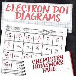 Free Electron Dot Diagram Chemistry Homework Worksheet By