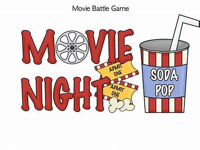Clip Popcorn Clipart Night Movies Cliparts Ticket