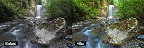 photoshop actions  waterfalls  landscapes
