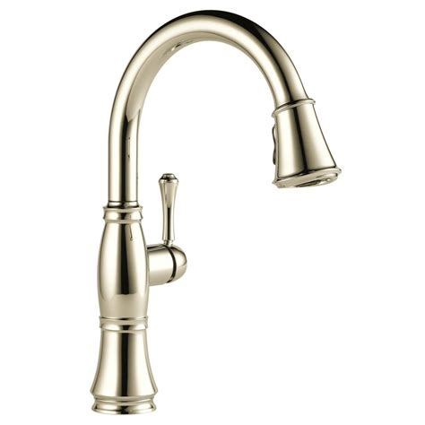 delta cassidy single handle pull sprayer kitchen faucet in polished nickel 9197 pn dst