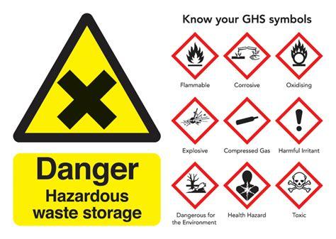danger hazardous waste storage guidance safety signs seton