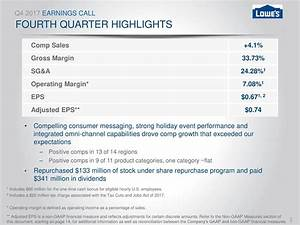 Lowe's Companies, Inc. 2017 Q4 - Results - Earnings Call ...