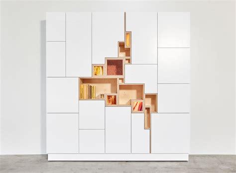 designer bookshelves modern shelving rupture a wall cabinet by filip janssens design