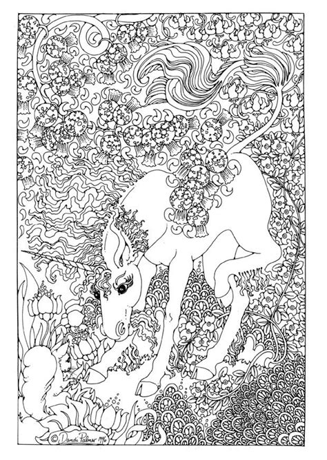 detailed coloring pages for adults coloring page unicorn
