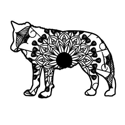 Compatible with cricut, scanncut and. Wolf Mandala Animal Svg T-Shirt Designs | Mandala, Mandala ...