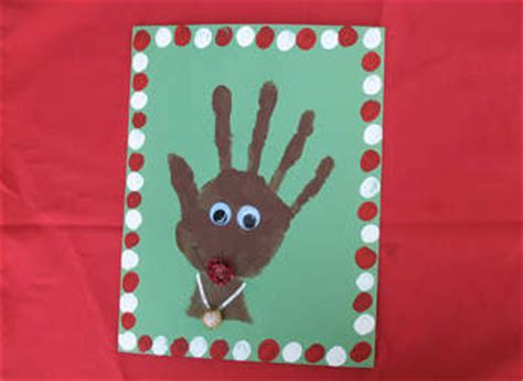 rhyme time crafts for toddlers 298 | Handprint Rudolph craft photo 350x255 AFormaro 0005 rdax 65