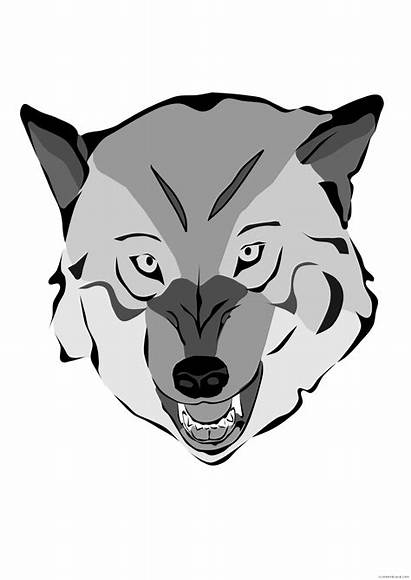 Wolf Clipart Vector Mask Face Drawings Clip