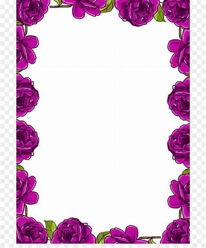 Border Clip Rose Flowers Flower Transparent Borders