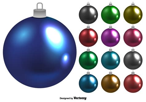 christmas sphere balls shiny vector balls set free vector stock graphics images