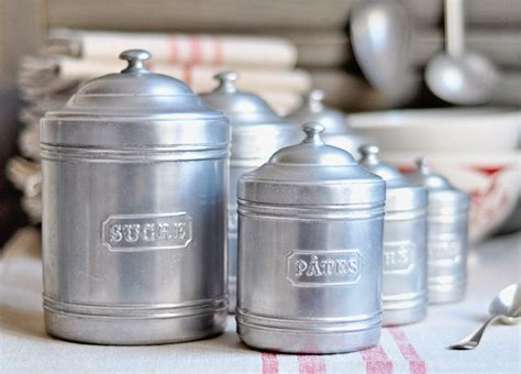 vintage kitchen canisters vintage kitchen canisters set of 6 canister