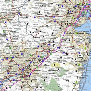 Map Of The New Jersey Turnpike  Original Mainline Via Car