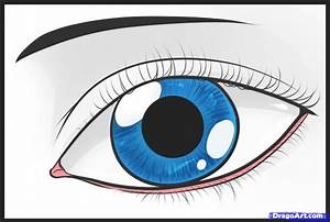 How to Draw an Easy Eye, Step by Step, Eyes, People, FREE ...