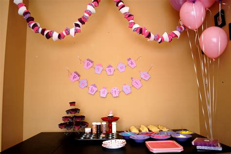 First Birthday Decoration Ideas At Home For Girl Beautiful