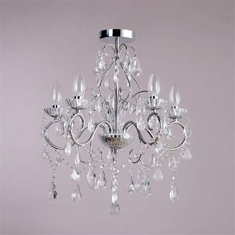 5 light modern in chrome decorative bathroom chandelier