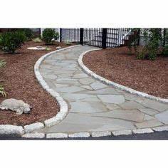 cambridge ledgestone driveway apron www With ordinary pierre pour allee de jardin 13 terrasse en beton cire