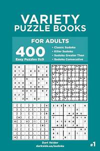 Variety Puzzle Books For Adults