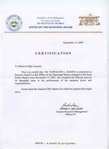 Sample certificate of employee sample certificate of good moral character for employee fresh format thecheapjerseys Gallery